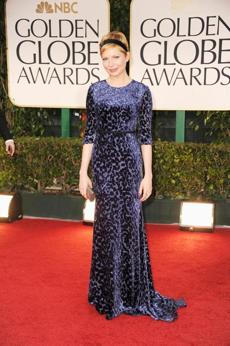 Michelle Williams at the 2012 Golden Globes in Wu-designed gown.